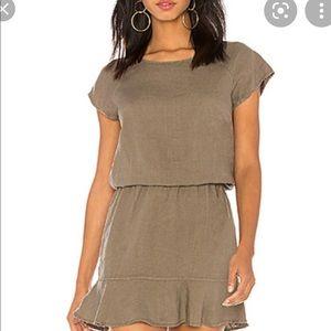 Joie Quora Green Linen Dress - S